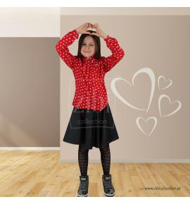 Spódniczki ze skajki matowe eleganckie 128-158 - 6 sztuk