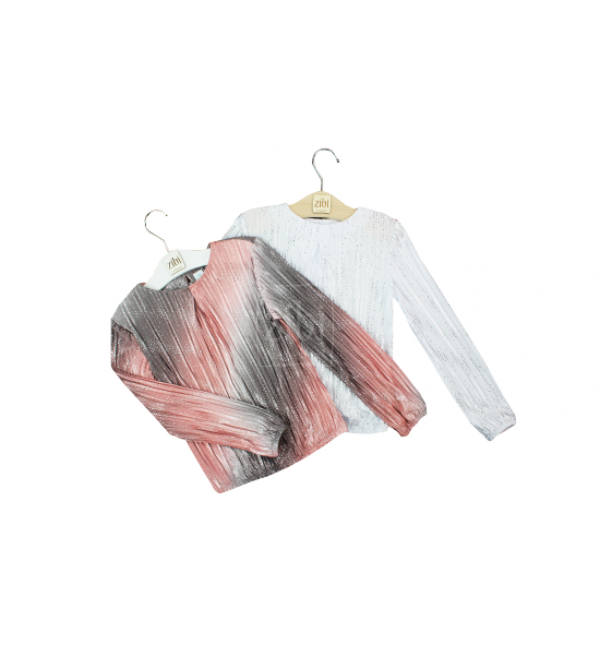 Bluzki dziewczęce eleganckie - pełna rozmiarówka 6 szt