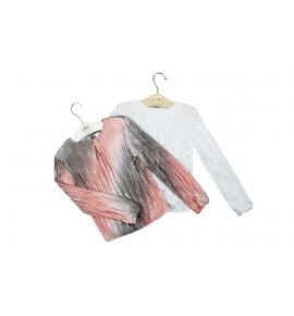 Bluzki dziewczęce eleganckie białe - pełna rozmiarówka 6 szt