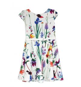 Wzorzyste sukienki dziewczęce w kwiaty 122-152 / 6 szt